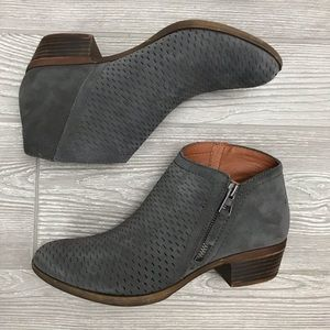 Lucky brand grey booties size 7.5 worn once